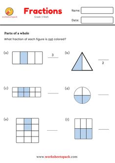 FREE FRACTIONS FOR GRADE 3