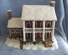 Currier and Ives American Winter Scene Porcelain Light Up Home