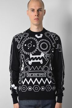 KENZO ENGINES BLACK PULLOVER