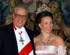Diane, Duchess of Wurttemberg, was born a princess of Orleans to HRH Henri, the Count of Paris, and his Countess, Princess Isabelle of Orleans-Braganza. Princess Diane is seen here with her husband, Carl, Duke of Wurttemberg.