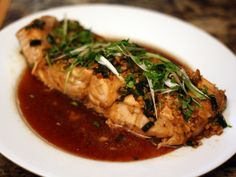 Steamed Salmon with Garlic and Ginger