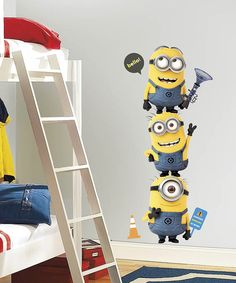 Take a look at the Despicable Me 2 Minions Giant Wall Decal Set on #zulily