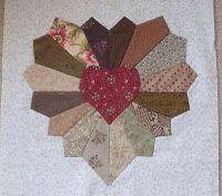 Heart Dresden quilt block
