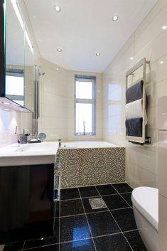 Before // after - bathroom - LENE ORVIK Decor, Furniture, Home Decor, Bathroom Mirror, Framed Bathroom Mirror, Corner Bathtub, Bathroom, Bathtub