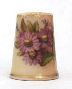 antique thimbles, porcelain thimbles. enamel thimbles by robyn