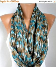 Spring Infinity Scarf  Mother's Day Gift Chiffon by fatwoman