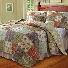 Blooming Prairie Cotton Patchwork Quilt