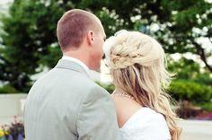 #wedding, #bride, #love. #groom, #hair, #braid, #blonde