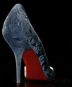 christian louboutin brocade heels