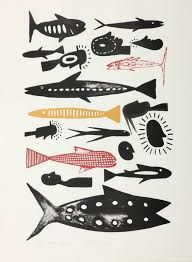 -colour -contrast -line -contrast -value -proportion -variety -pattern -tone -emphasis -shape -space Stencil Printing, Screen Printing, Wood Engraving, Fish Art, Printmaking, Illustration Art, Arts And Crafts, Year 7, Colour Contrast