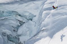 """Snowboarding the Pemberton Ice Cap, British Columbia  Photograph by Mark Gribbon  """"Being in the backcountry is where I belong and am the most happy,"""" says snowboarder Joel Loverin, seen here on the Pemberton Ice Cap in British Columbia, Canada, during a three-day backcountry camping and riding excursion"""