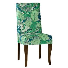 Gently curved maple legs support a luxuriously padded spring seat. Specify Honey, Walnut, or Mahogany finish. Slipcovers For Chairs, Upholstered Chairs, Ballard Designs, Dining Room Chairs, Accent Chairs, Couture, Furniture, Home Decor, Style