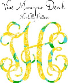 A personal favorite from my Etsy shop https://www.etsy.com/listing/234457177/lilly-pulitzer-vine-monogram-decal-new