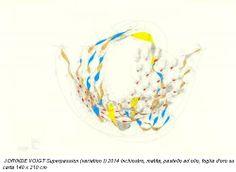 JORINDE VOIGT Superpassion (variation I) 2014 Inchiostro, matita, pastello ad olio, foglia d'oro su carta 140 x 210 cm