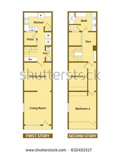 Architecture Floor Plans Modern House Stock Vector - Illustration of floor, architecture: 91815689 New Modern House, Modern House Floor Plans, House Sketch, House Drawing, Home Design Plans, Plan Design, Architecture Blueprints, Home Logo, Home Buying