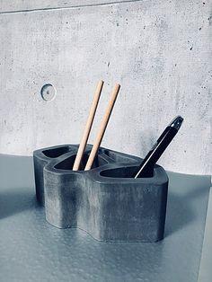 Bloc Résille du Mucem en béton, BbyNC Artisanal, Toothbrush Holder, Incense, Best Sellers, Creations, Objects