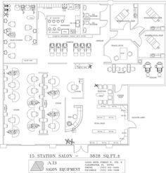 Beauty Salon Floor Plan Design Layout 2385 Square Foot RG P