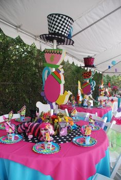"Photo 15 of 24: Mad Hatter/Alice in Wonderland / Birthday ""One-derland birthday"""