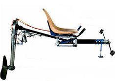 Подвесной мотор с педальным приводом