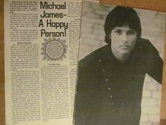Michael James, Two Page Vintage Clipping 1970s Music, Vintage Clip, Artist, Artists