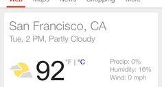 A rare 90+ degree day in San Francisco!