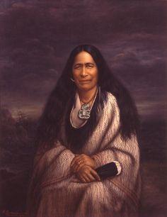 Huria Matenga oil on canvas - Māori Portraits by Gottfried Lindauer Maori Legends, Polynesian People, Maori People, Portrait Art, Portraits, The Ancient One, New Zealand Art, Nz Art, Maori Art