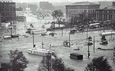 The 1938 Hurricane hit New England just south of Rhode Island allowing the counterclockwise storm surge to go right up Narragansett Bay. Sustained winds of 125mph with gusts up to 186mph with a 16 foot storm surge destroyed coastal Rhode Island and flooded Providence.    600 People died and 4,500 were injured in total everywhere it hit. Still one of the worst disasters in US history.