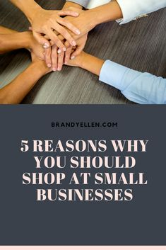 5 Reasons Why You Should Shop at Small Businesses PLUS check out these deals!