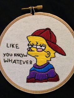 Lisa Simpson Needlepoint by GlitterPuke666 on Etsy