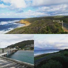 Bells Beach Lorne Apollo Bay. Seeing new parts of my country in the windy bitter cold.  #roadtrip #melbourne #victoria #australia #aussiesofinstagram #beach #bush #travel #adventure #ocean #bellsbeach #apollobay #lornebeach by maddiebrymner http://ift.tt/1LQi8GE