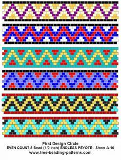 free peyote patterns - Buscar con Google