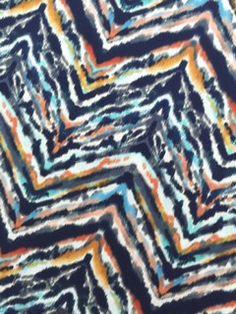 Chevron Rainbow Zebra Print