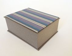 Jewelry box with decorative paper and separate lid by bigjumppress, £15.00