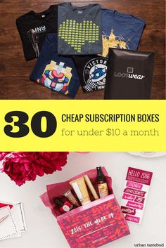 Best Cheap Subscription Boxes for less than $10