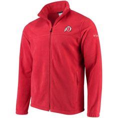 Columbia Utah Utes Flanker Full-Zip Fleece Jacket - Red - $64.99