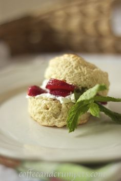 English scone strawberry shortcake for Mother's Day