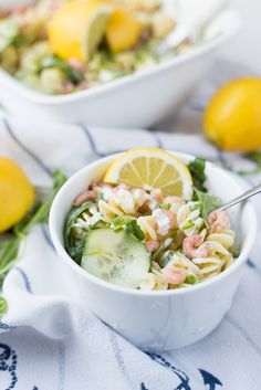 Frisse pastasalade met Hollandse garnalen
