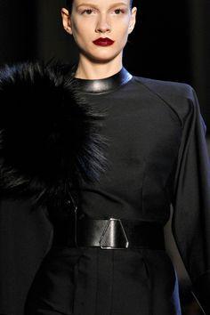 Fall '12 Yves Saint Laurent  black on black on black
