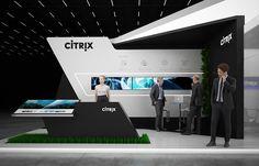 "Exhibition stand "" CITRIX"" 40 sq.m., 2 sides open. Tokyo, JapanDesign by ""GM stand design""Designer: Nazar Malets"