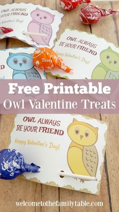 Looking for some free Valentine printable cards for kids? If so, come grab our adorable owl Valentine treat cards for your children, friends, or classroom! via @carliekercheval