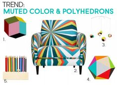 Trend: Muted Color & Polyhedrons