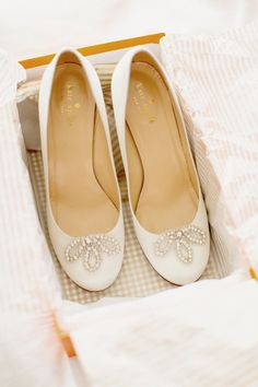 Elegant Kate Spade Shoes | See the garden-styled wedding on Style Me Pretty: http://www.StyleMePretty.com/2014/03/11/romantic-garden-wedding-at-caramoor/ Photography: Elisabeth Millay