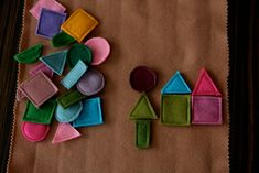 Simple felt shapes to play with.