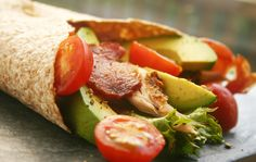 Chicken Avocado BLT Wraps -- Our take on the classic BLT, and a great way to use leftover cooked chicken. Get the recipe from our newsletter.