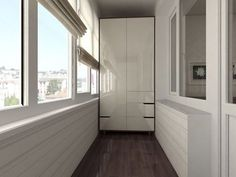 Design of a balcony with a cupboard Small Balcony Design, Small Apartment Design, Apartment Balcony Decorating, Small Apartments, Balcony Curtains, Wardrobe Design, Design Case, Cozy House, Home Bedroom