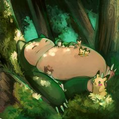 Snorlax is one of my favorite pokemon.  :) I love all of the pictures based off of totoro