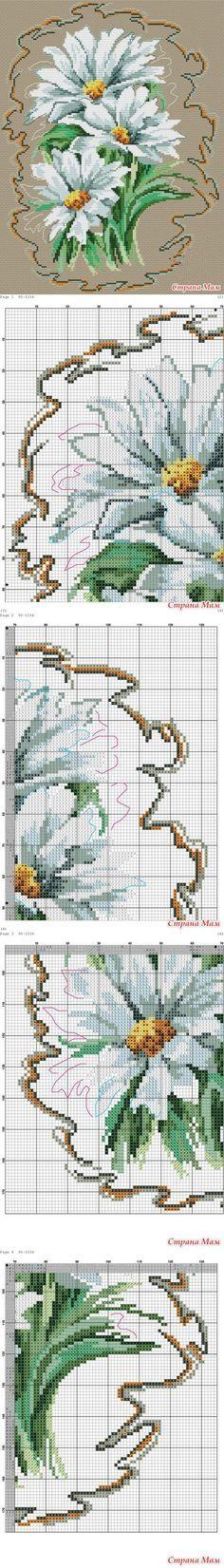 Цветочные вышивки крестиком - Клуб рукоделия - Страна Мам
