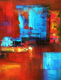 A Luminous Abstraction by Rick Heck | acrylic painting | Ugallery Online Art Gallery