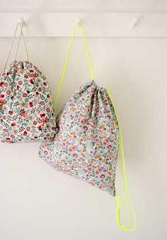 Tutorial para hacer unas mochilas muy prácticas | Portaldelabores.com | Portal de labores
