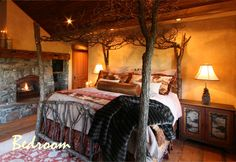 cool rustic bed